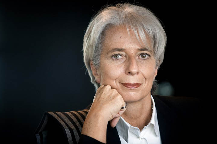 "(FILES) This file photo taken on November 21, 2008 shows French Economy and Finance Minister, Christine Lagarde, posing at the ministry in Paris.  IMF chief Christine Lagarde will goe on trial in France on December  12, 2016 over a massive state payout to a flamboyant tycoon when she was finance minister in a case that risks tarnishing her stellar career. Lagarde denies the charges of negligence, arguing she was acting ""in the state's interest"" in making the payment to Bernard Tapie, the former owner of sportswear giant Adidas and Olympique Marseille football club. If found guilty, Lagarde could receive a one-year prison sentence and a 15,000 euro ($15,900) fine. / AFP PHOTO / MARTIN BUREAU"