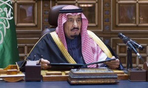 Saudi King Salman gives a speech following the death of King Abdullah in Riyadh January 23, 2015. Salman pledged on Friday to maintain existing energy and foreign policies then quickly moved to appoint younger men as his heirs, settling the succession for years to come by naming a deputy crown prince from his dynasty's next generation. King Abdullah died early on Friday after a short illness. By appointing his youngest half-brother Muqrin, 69, as Crown Prince and nephew Mohammed bin Nayef, 55, as Deputy Crown Prince, Salman has swiftly quelled speculation about internal palace rifts at a moment of great regional turmoil. REUTERS/Saudi Press Agency/Handout via Reuters (SAUDI ARABIA - Tags: POLITICS ROYALS PROFILE TPX IMAGES OF THE DAY) ATTENTION EDITORS - THIS IMAGE WAS PROVIDED BY A THIRD PARTY. NO SALES. NO ARCHIVES. FOR EDITORIAL USE ONLY. NOT FOR SALE FOR MARKETING OR ADVERTISING CAMPAIGNS. THIS PICTURE IS DISTRIBUTED EXACTLY AS RECEIVED BY REUTERS, AS A SERVICE TO CLIENTS
