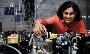 CAMBRIDGE, MA-SEPTEMBER 20: MIT Quantum Astrophysicist Nergis Mavalvala in an MIT lab, September 20, 2010 in Cambridge, Massachusetts. (Photo by Darren McCollester/for MacArthur Foundation)